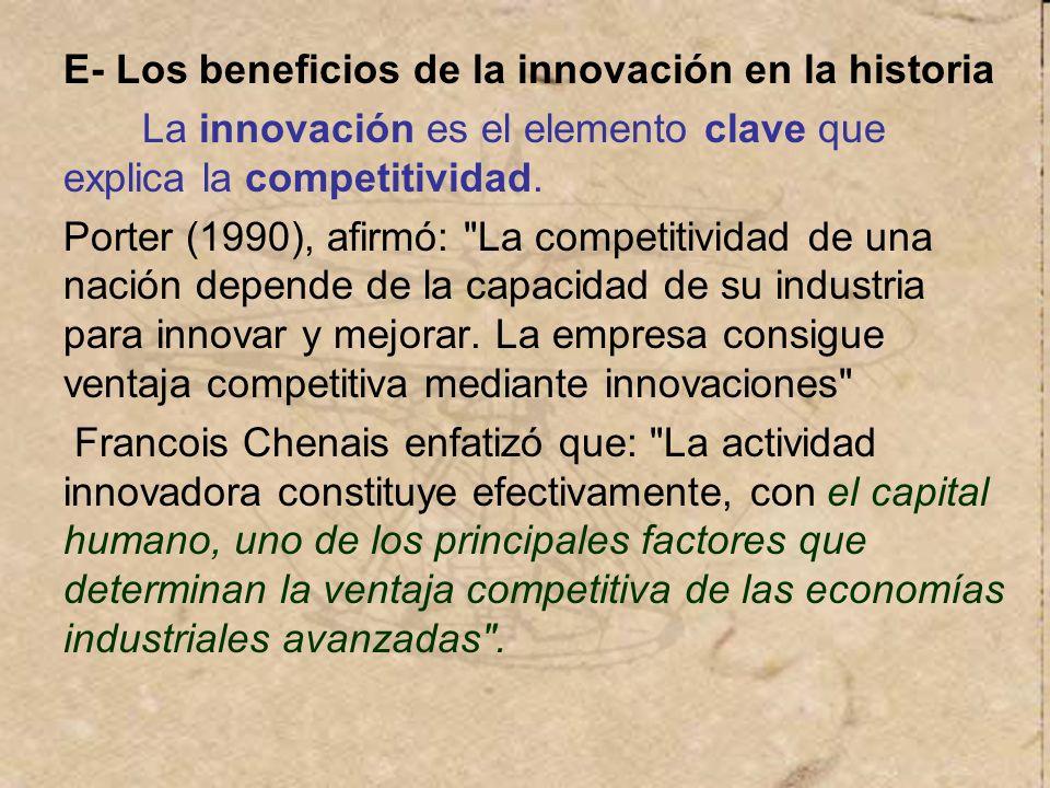 E- Los beneficios de la innovación en la historia