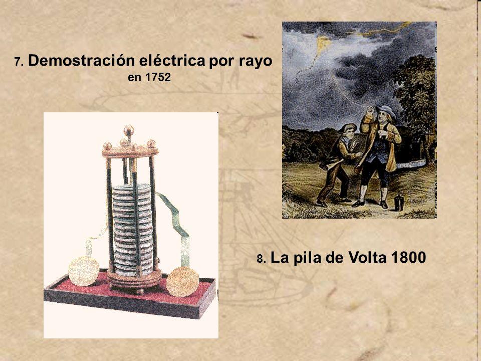 7. Demostración eléctrica por rayo