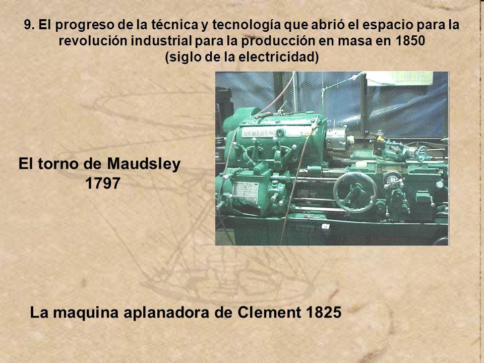 La maquina aplanadora de Clement 1825