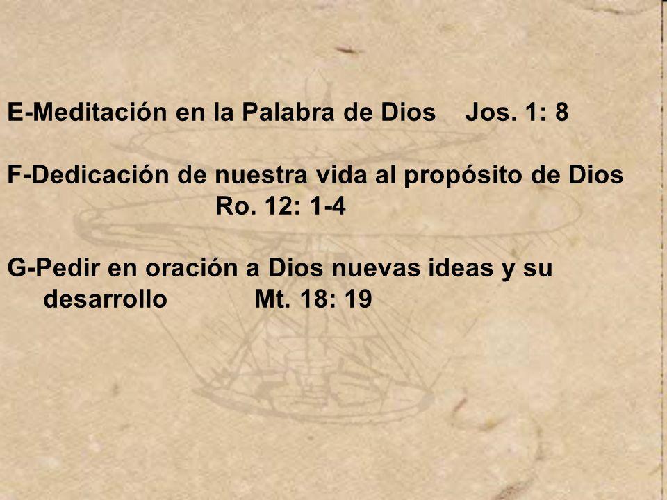 E-Meditación en la Palabra de Dios Jos. 1: 8