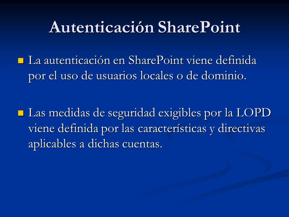 Autenticación SharePoint