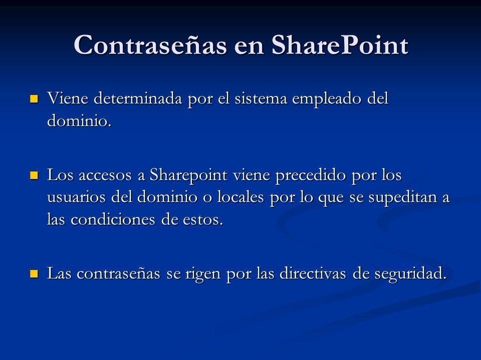Contraseñas en SharePoint