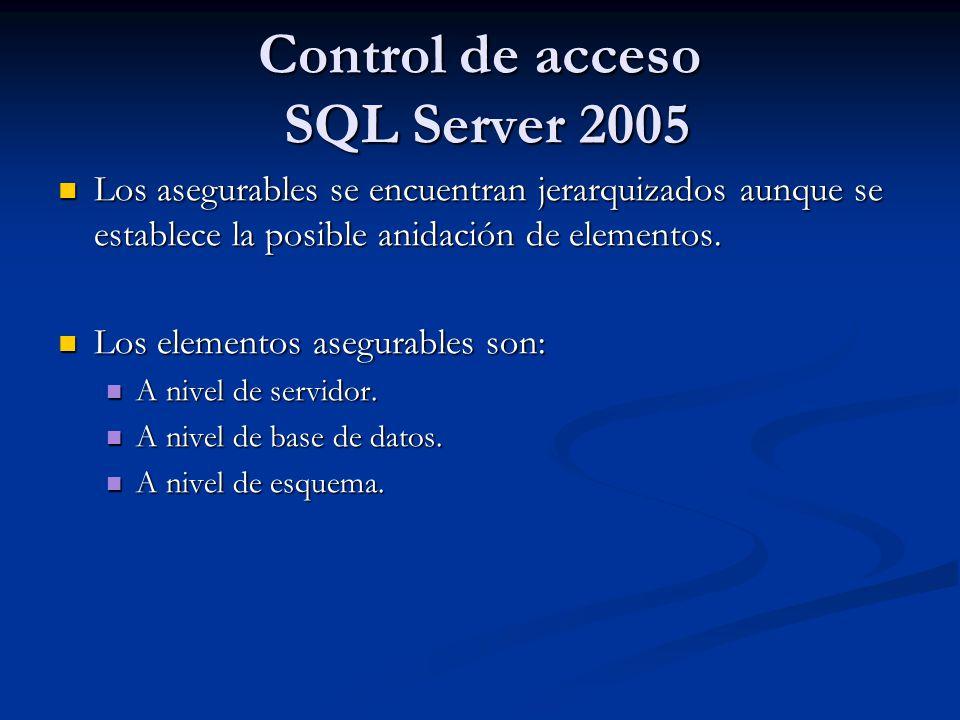 Control de acceso SQL Server 2005