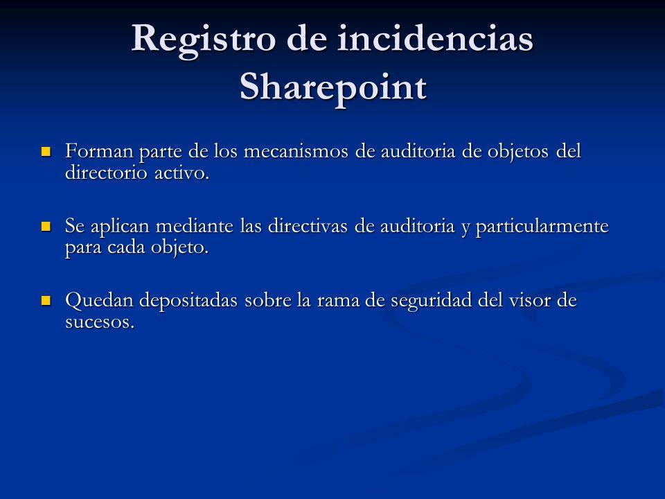 Registro de incidencias Sharepoint