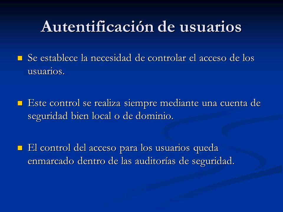 Autentificación de usuarios