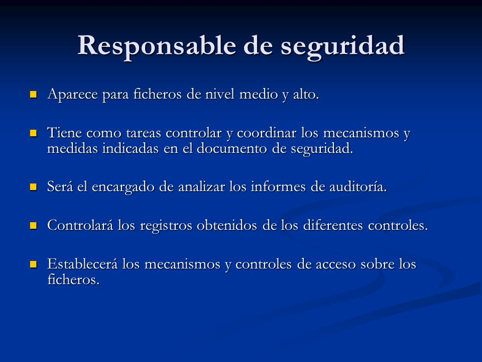 Responsable de seguridad