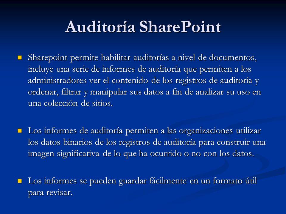 Auditoría SharePoint