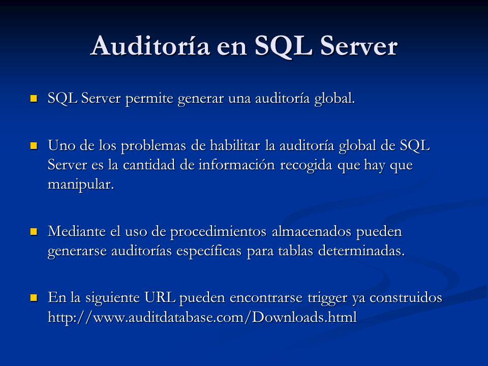 Auditoría en SQL Server