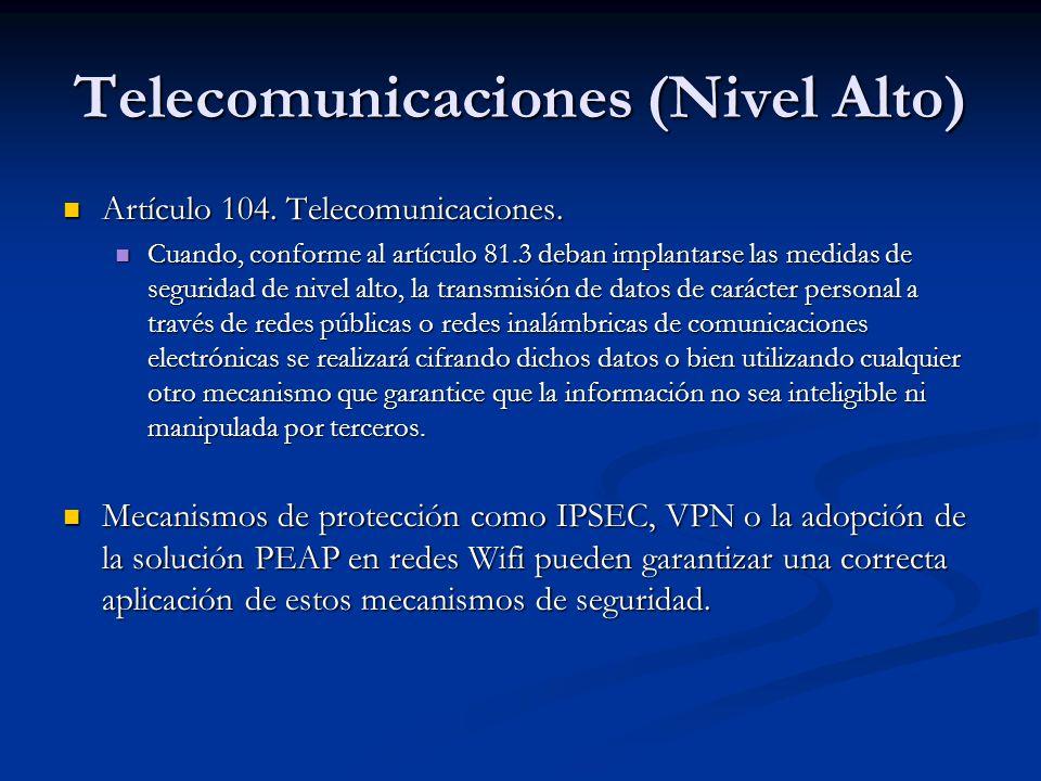 Telecomunicaciones (Nivel Alto)