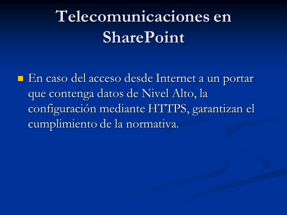 Telecomunicaciones en SharePoint