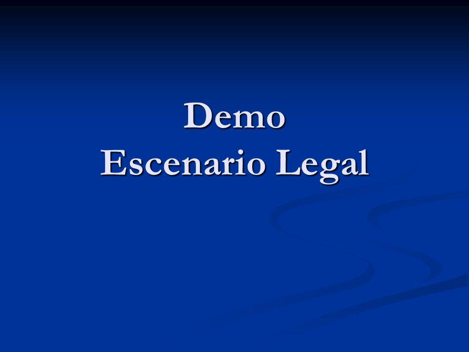 Demo Escenario Legal