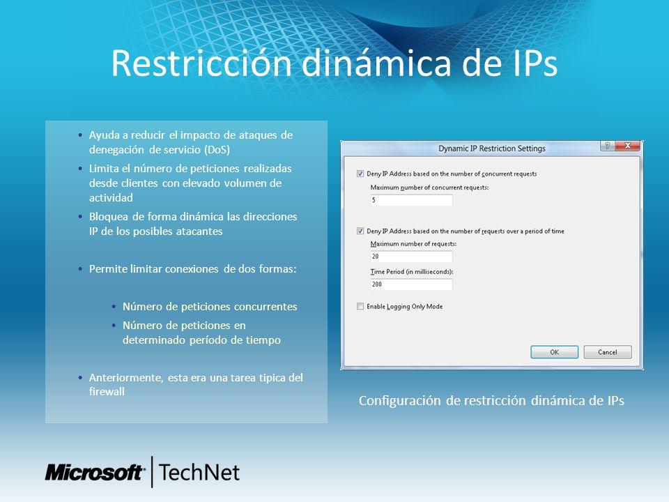 Restricción dinámica de IPs