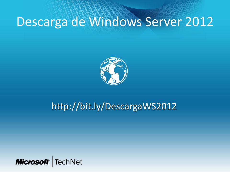 Descarga de Windows Server 2012