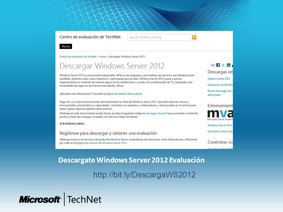 Descargate Windows Server 2012 Evaluación
