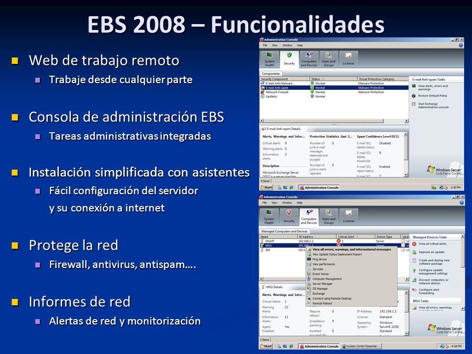 EBS 2008 – Funcionalidades Web de trabajo remoto