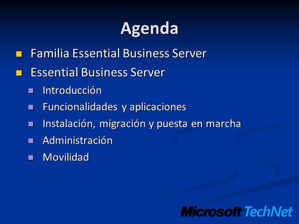 Agenda Familia Essential Business Server Essential Business Server