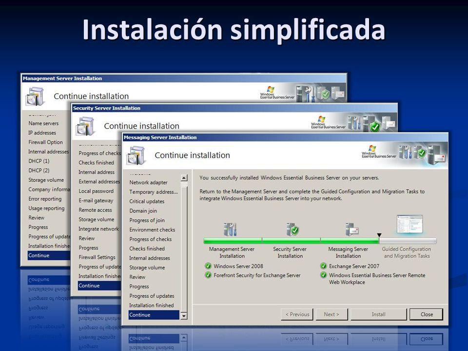 Instalación simplificada
