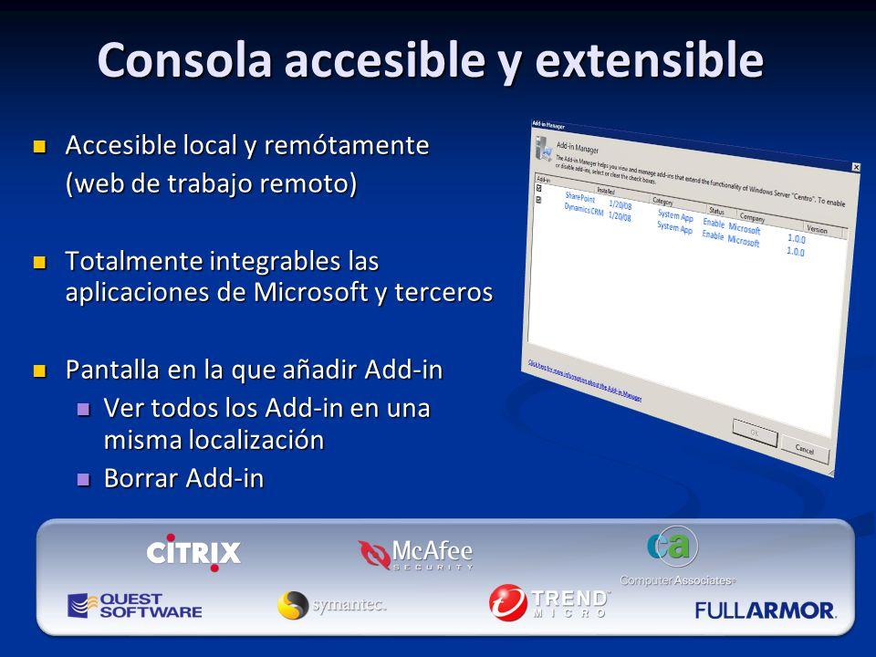 Consola accesible y extensible