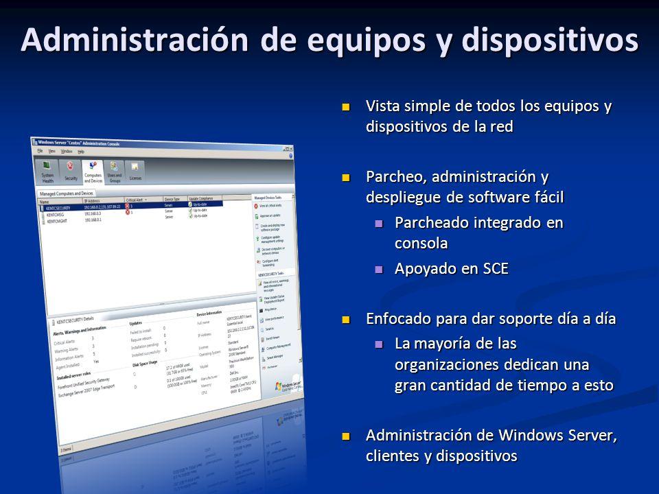Administración de equipos y dispositivos