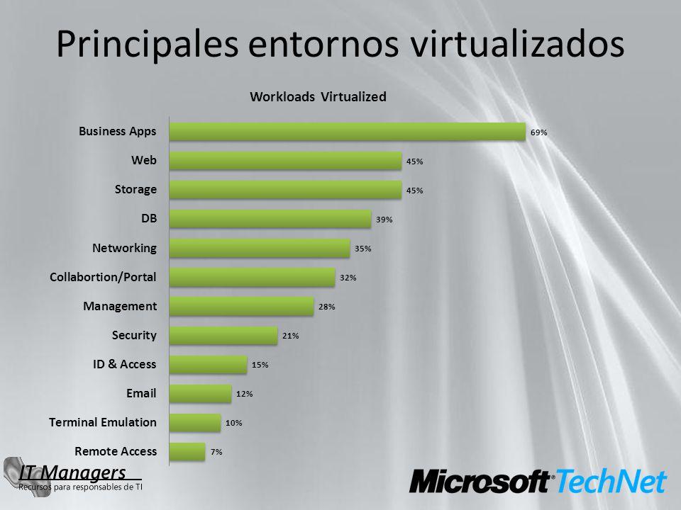 Principales entornos virtualizados
