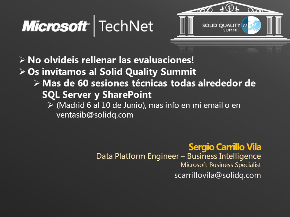 Sergio Carrillo Vila Data Platform Engineer – Business Intelligence