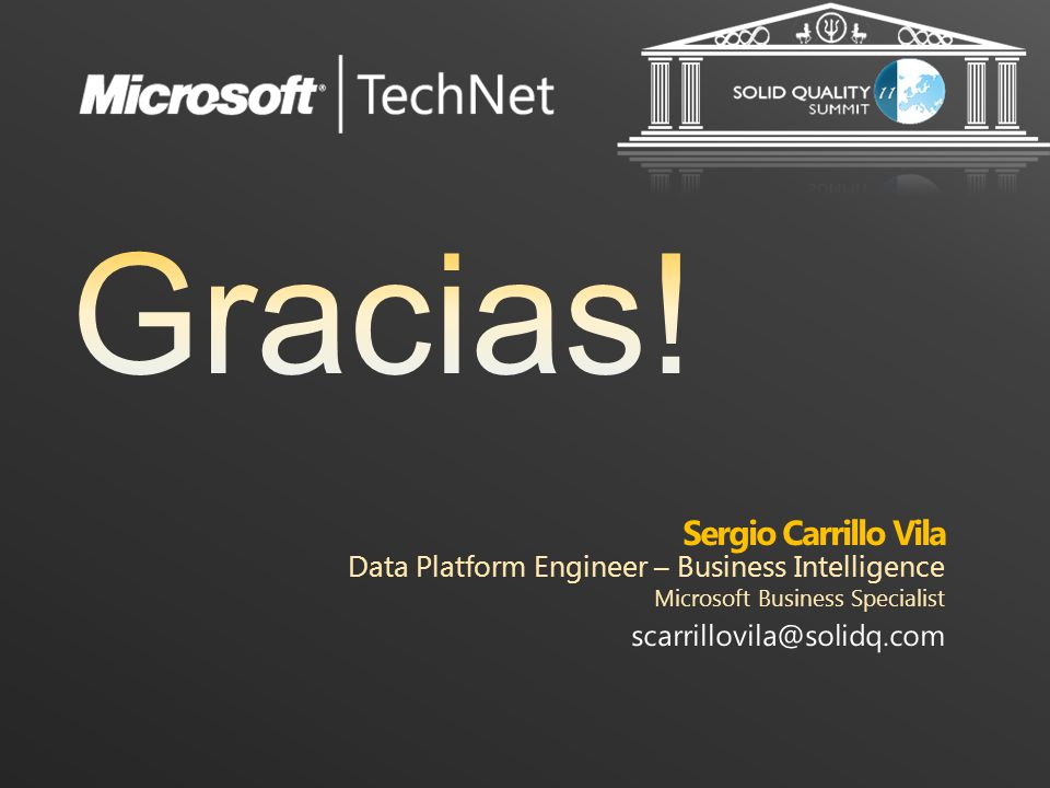 Sergio Carrillo Vila Data Platform Engineer – Business Intelligence
