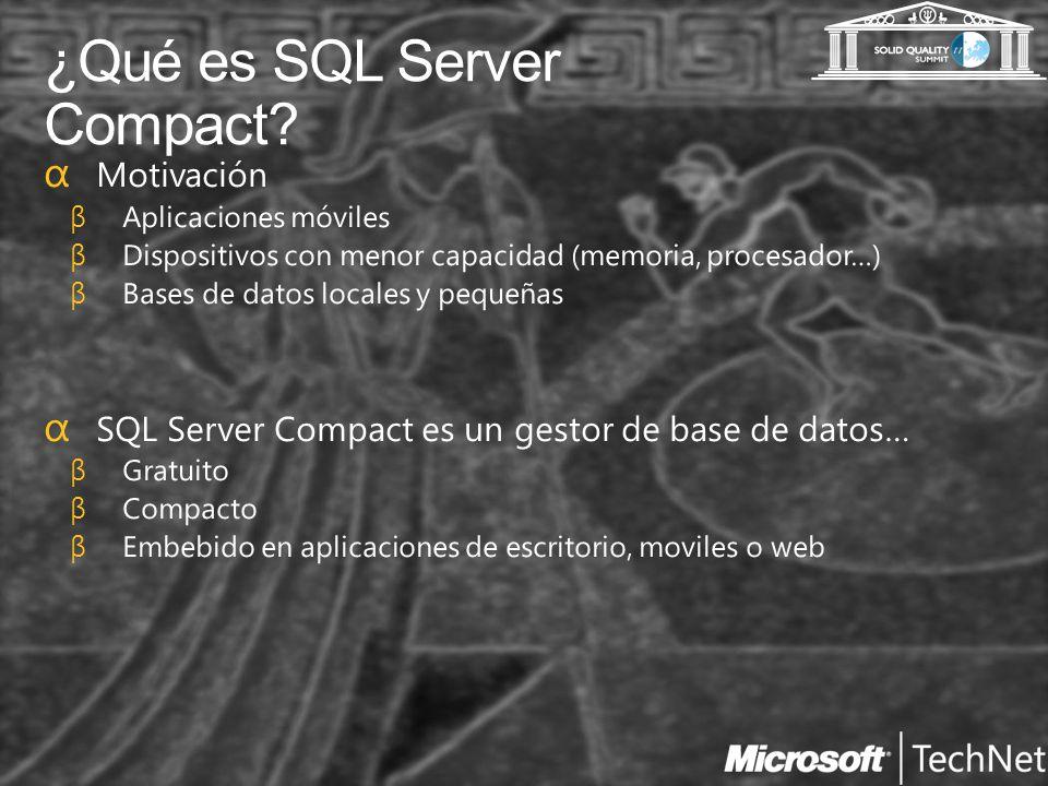 ¿Qué es SQL Server Compact