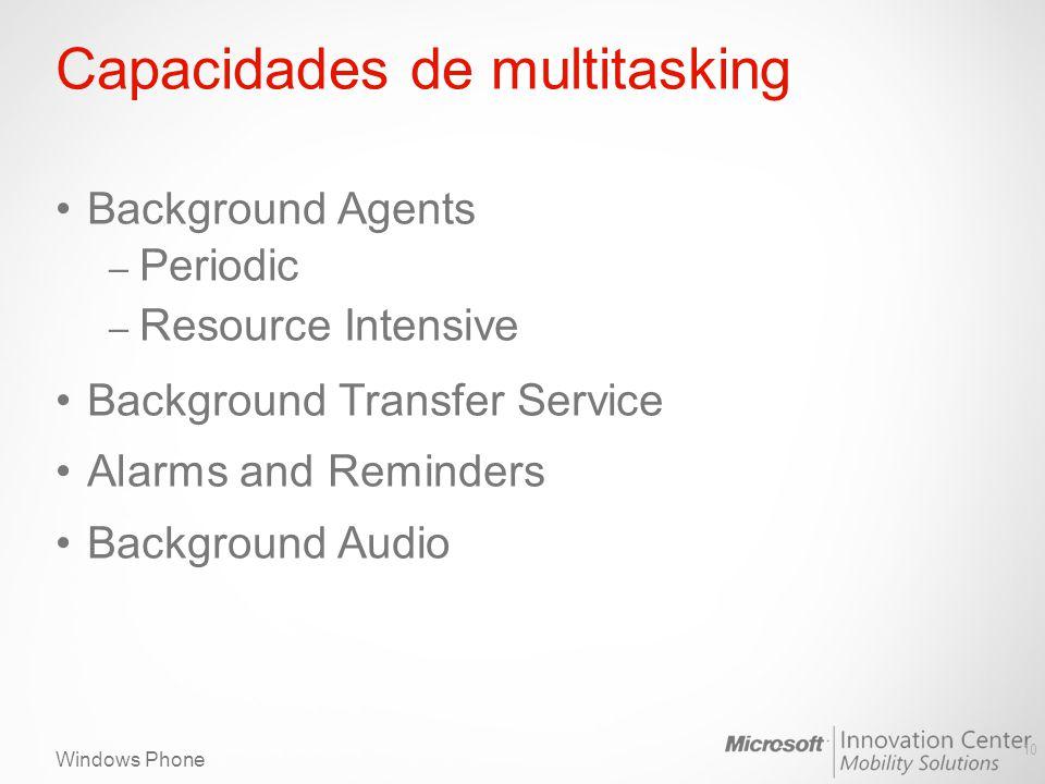 Capacidades de multitasking
