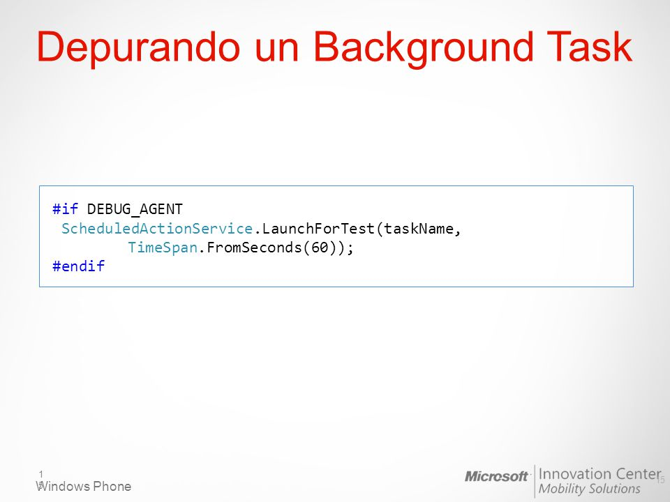 Depurando un Background Task