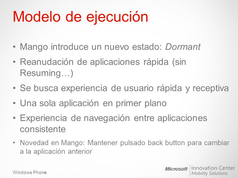 Modelo de ejecución Mango introduce un nuevo estado: Dormant