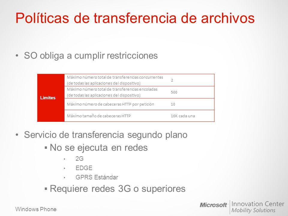 Políticas de transferencia de archivos