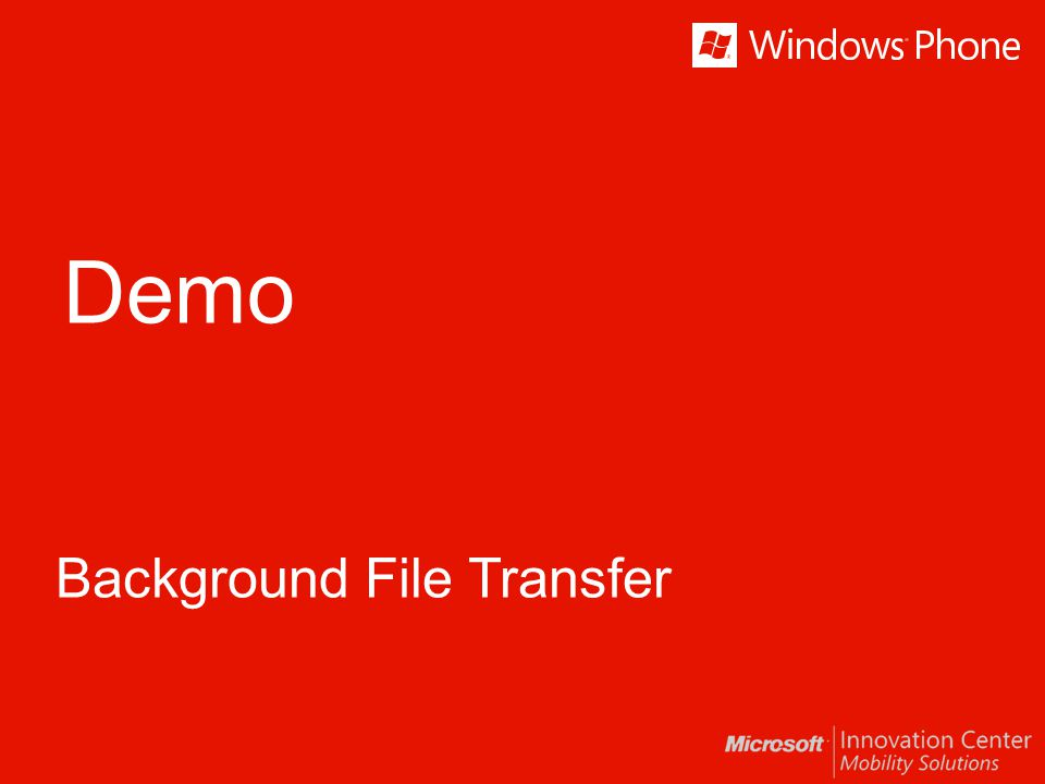 Background File Transfer
