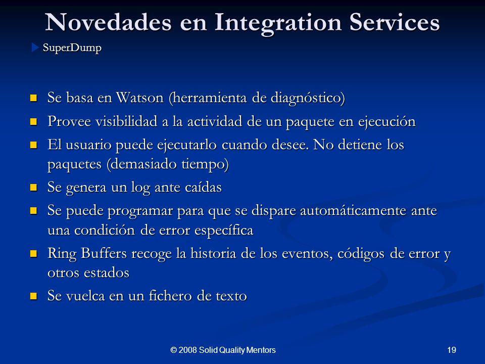 Novedades en Integration Services
