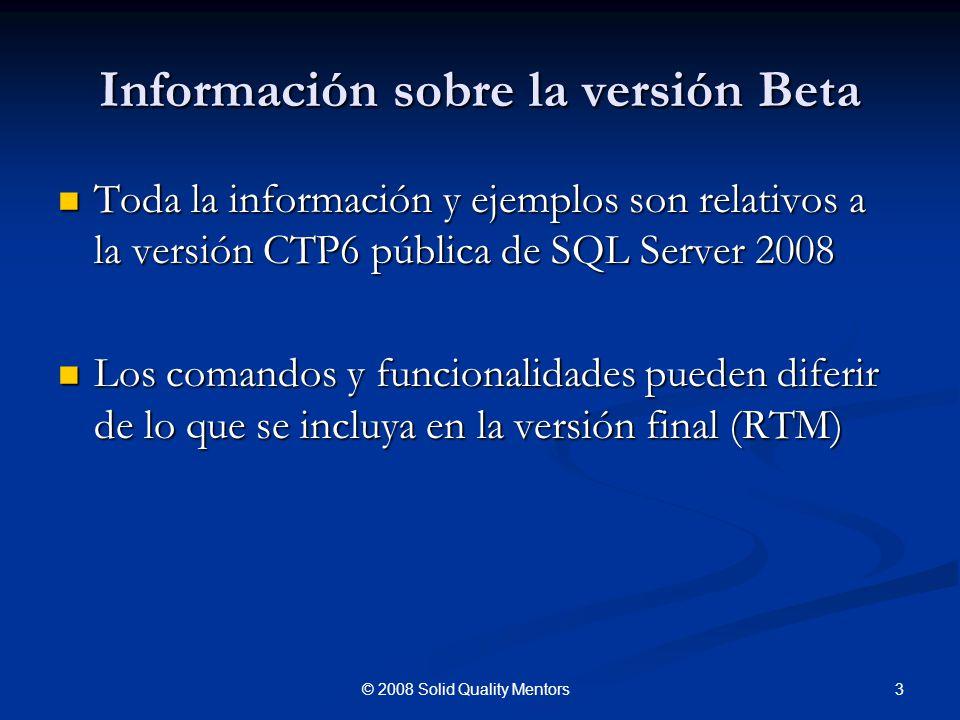 Información sobre la versión Beta