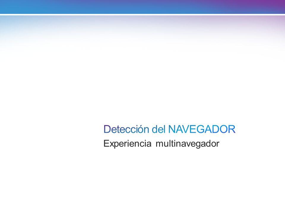 Detección del NAVEGADOR