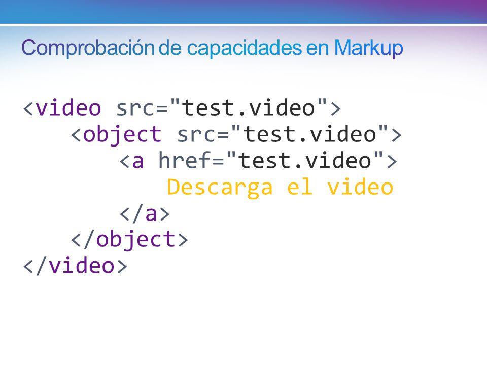 Comprobación de capacidades en Markup