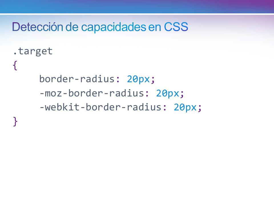 Detección de capacidades en CSS