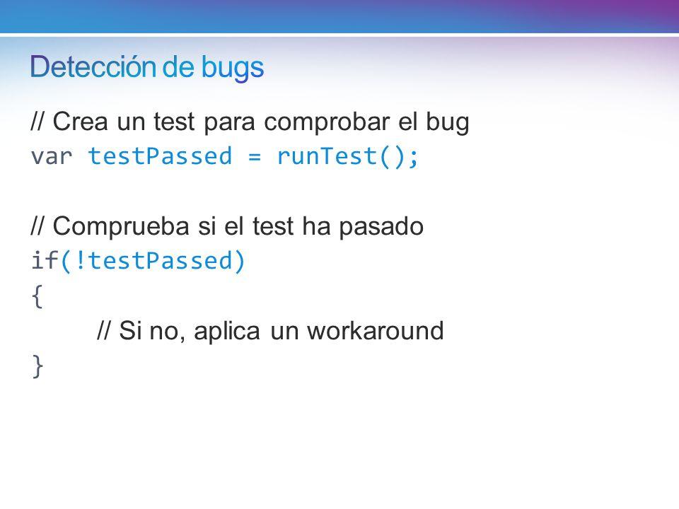 Detección de bugs // Crea un test para comprobar el bug