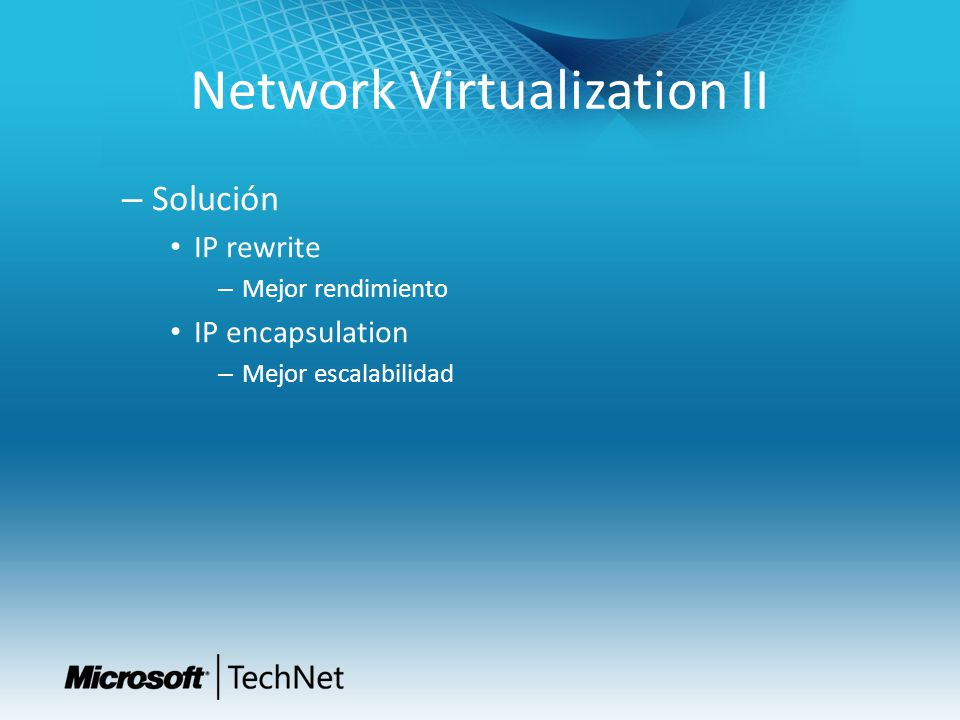 Network Virtualization II