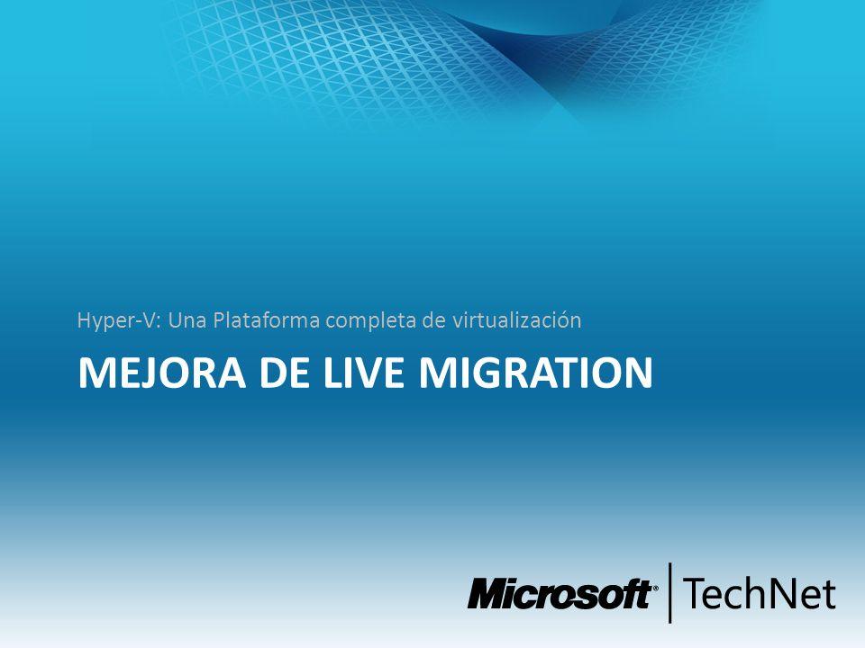Mejora de Live Migration