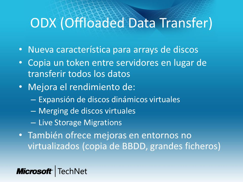 ODX (Offloaded Data Transfer)