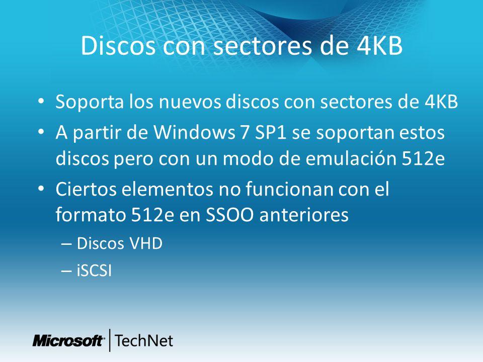 Discos con sectores de 4KB