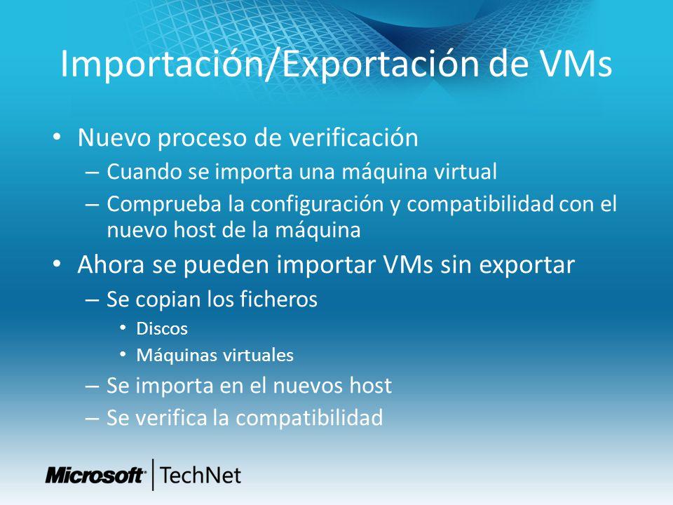 Importación/Exportación de VMs