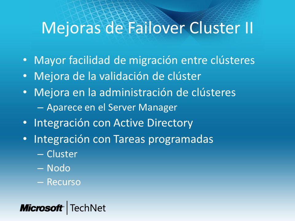 Mejoras de Failover Cluster II