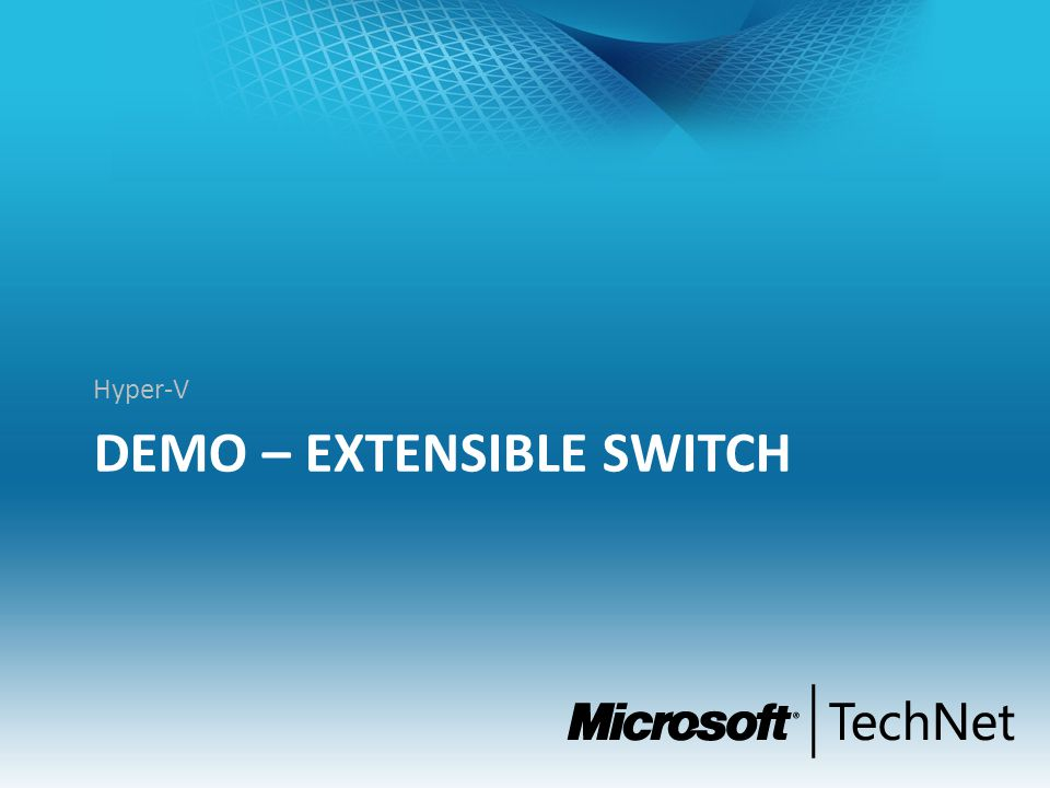 DEMO – Extensible Switch