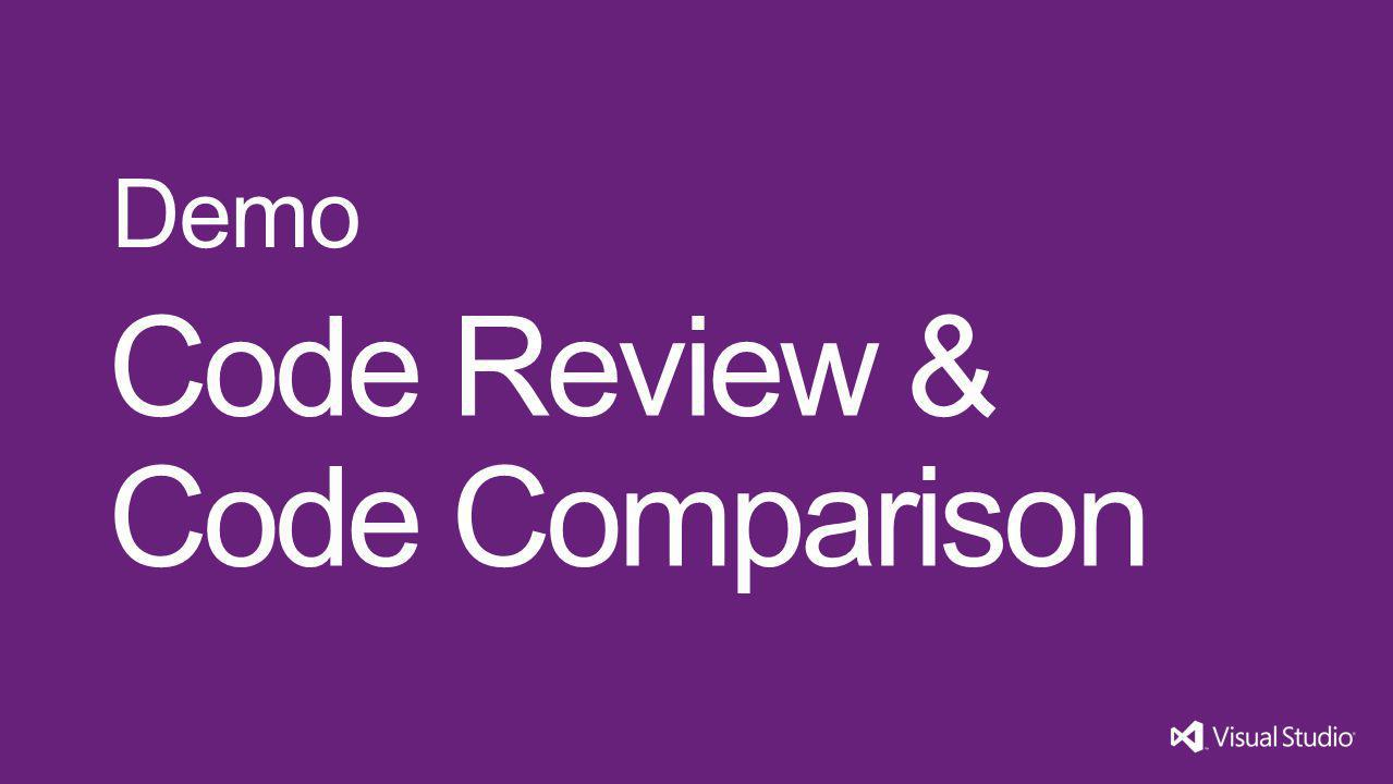 Code Review & Code Comparison Demo Visual Studio 11 4/1/2017