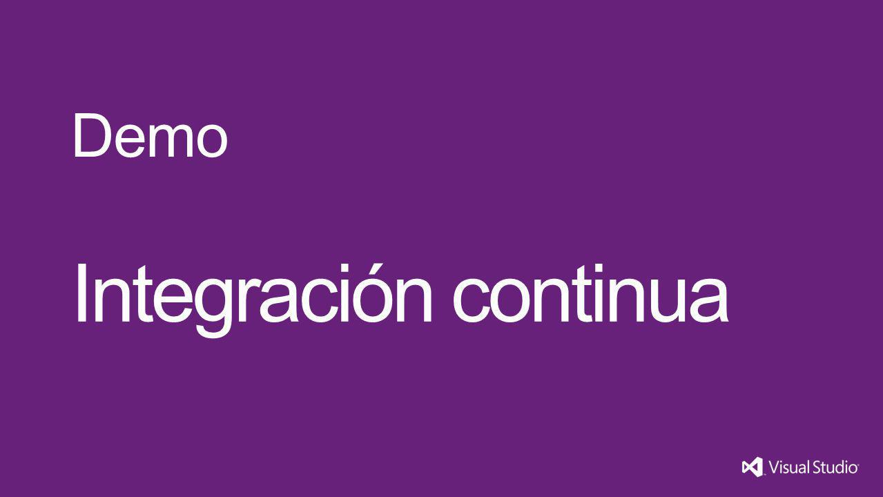 Integración continua Demo Visual Studio 11 4/1/2017