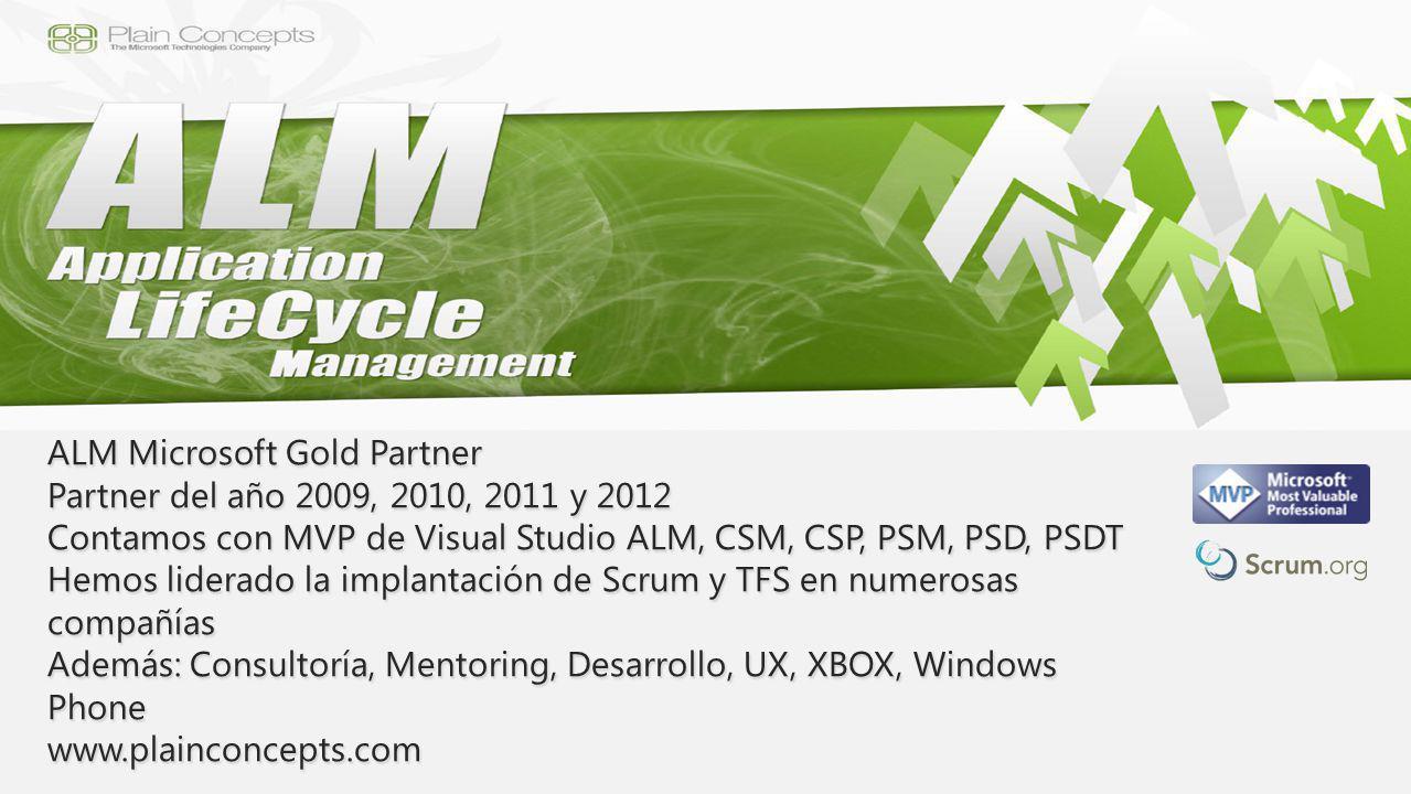 ALM Microsoft Gold Partner Partner del año 2009, 2010, 2011 y 2012