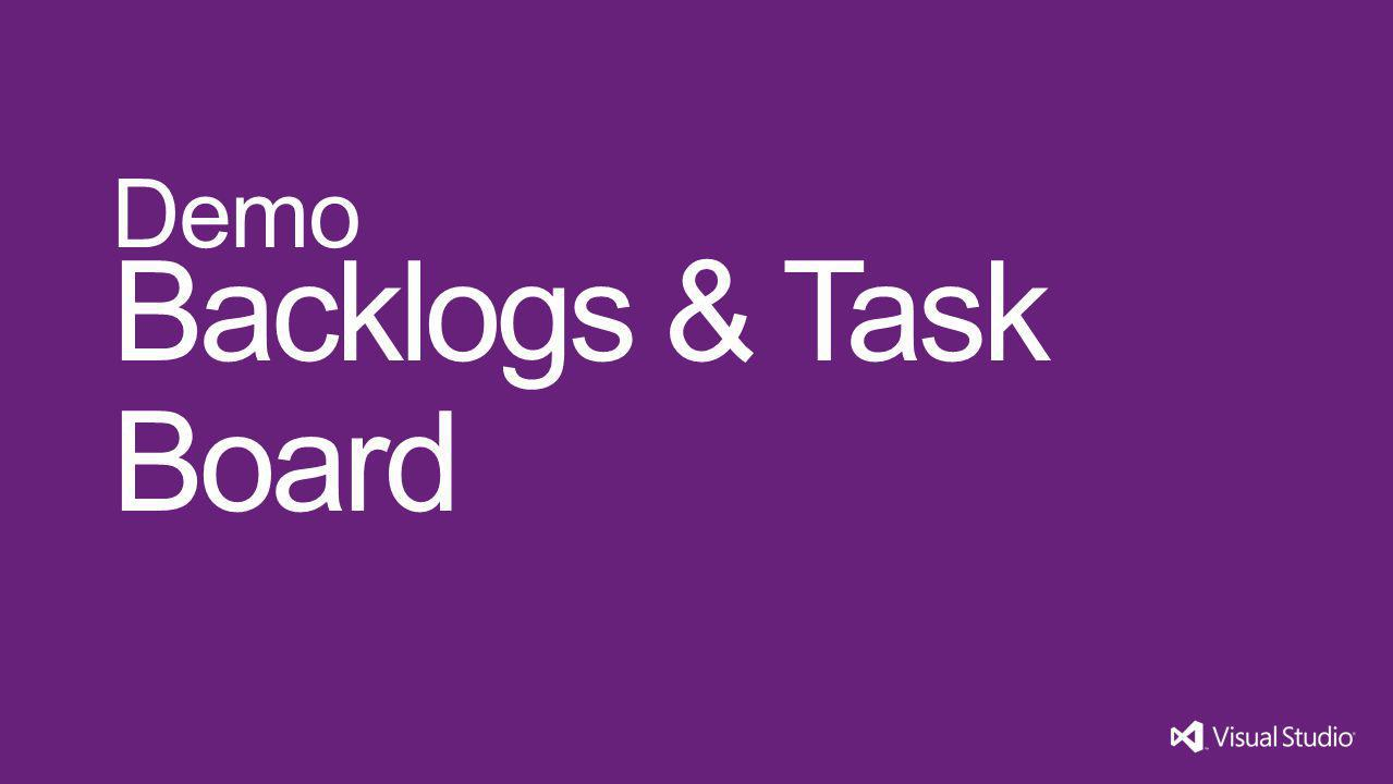 Backlogs & Task Board Demo Visual Studio 11 4/1/2017
