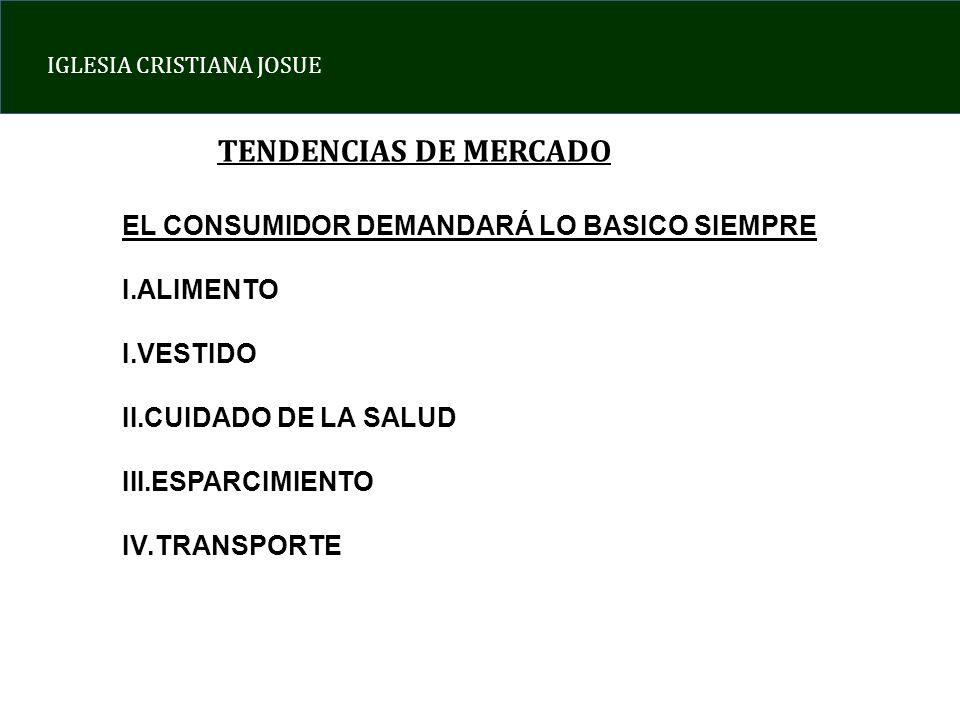 TENDENCIAS DE MERCADO EL CONSUMIDOR DEMANDARÁ LO BASICO SIEMPRE